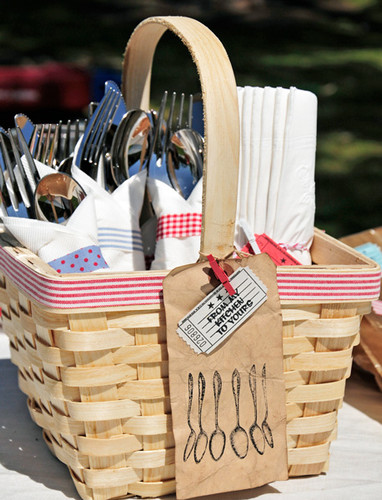 Utensils and Napkins Basket Project by Kerri Winterstein