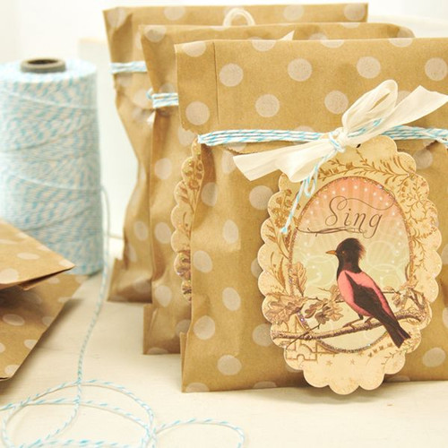 Birds and Blooms Kraft Bags Project