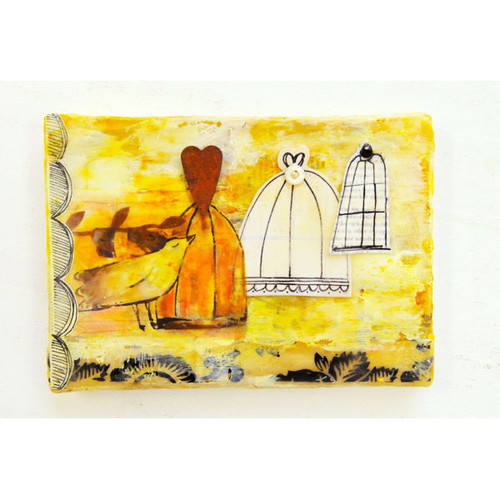 Three Cages Beeswax Canvas Project by Roben-Marie Smith