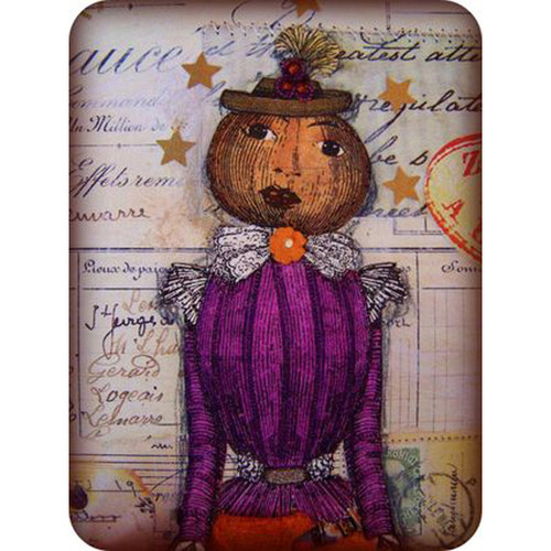 Pumpkin Woman Collage Project by Barbara Smith