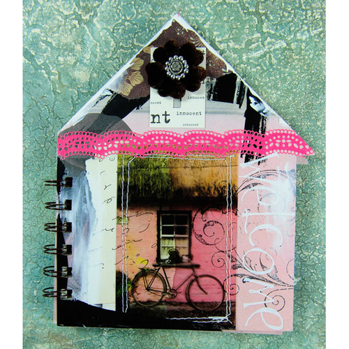 Cottage Garden Altered Books Project by Audrey Hernandez