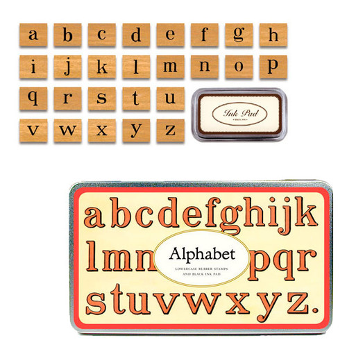 Cavallini & Co. Rubber Stamp Set — Alphabet Lowercase