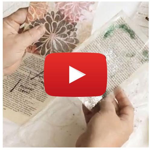 Resin Paper Video By Guest Artist Jen Cushman, Inspired by Susan Lenart Kazmar