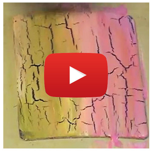 Paint Crackle Video By Julia Andrus