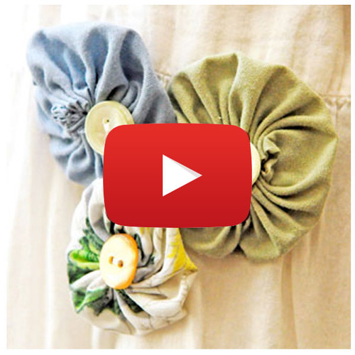 Fabric Flower Yo-Yos Video