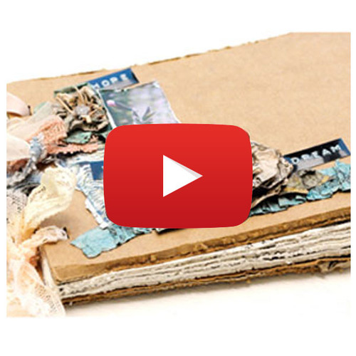 Distressed Mini Book Distrezz-it-All Video By Donna Salazar