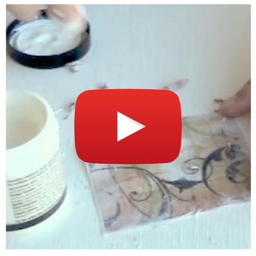 Paper Transfer onto Sticky Back Canvas Video