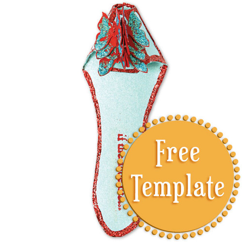 Holiday Fairy Shoe Slipper  Template