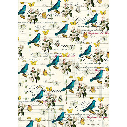 Cavallini & Co. Decorative Wrap — Flora & Fauna Birds 2