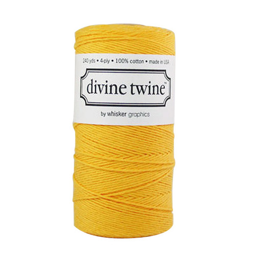 Divine Twine Baker's Twine — Solid Yellow
