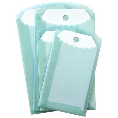 Melissa Frances Vellum Envelopes & Tags — Blue