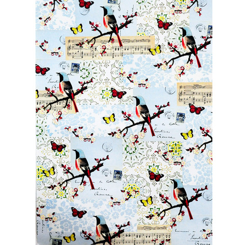 Cavallini & Co. Decorative Wrap — Flora & Fauna Bird