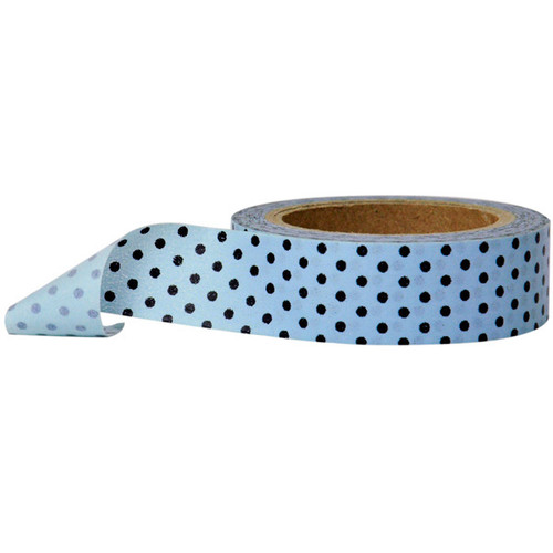Washi Tape — Polka Dot Blue with Black