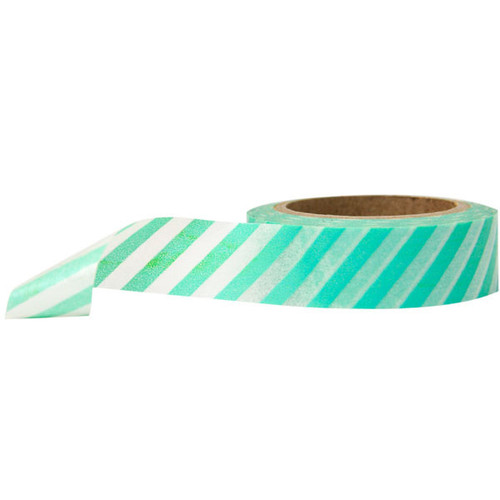 Washi Tape — Diagonal Stripe Blue