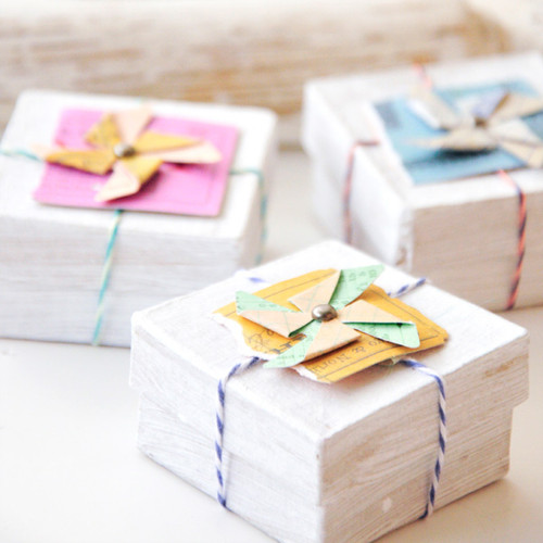 Pretty Pinwheel Boxes Project