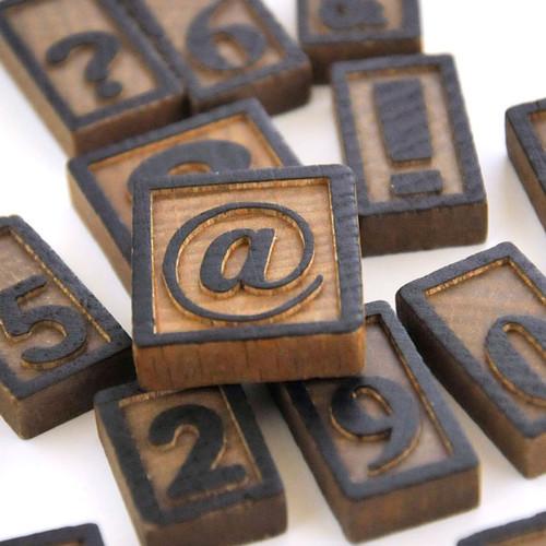 Vintage Wood Letterpress Blocks — Numbers