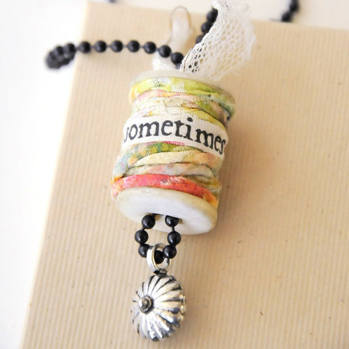 Sometimes Mixed-Media Spool Necklace Project by Roben-Marie Smith