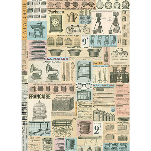 Cavallini & Co. Decorative Wrap — French Ephemera