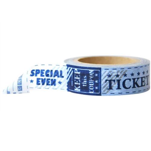 Washi Tape — Ticket Vintage Blue
