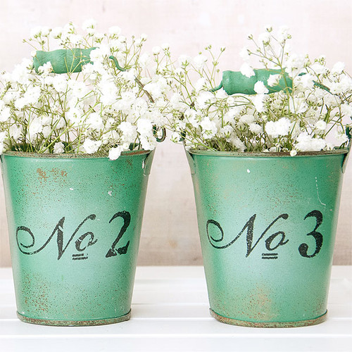 Vintage Number Buckets Inspiration Project