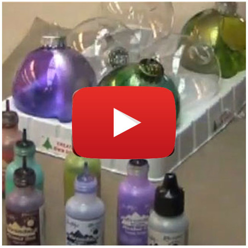 Alcohol Ink Spattered Ornaments Video by Tim Holtz
