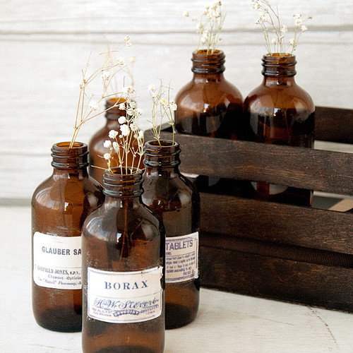 Apothecary Bottles Display Project