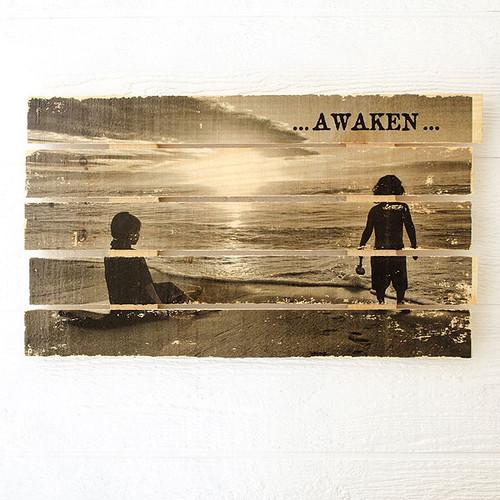 Awaken Wood Pallet Transfer Project by Johanna Love