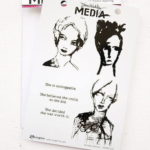 Ranger Ink Dina Wakley Media Cling Stamps — Scribbly Women