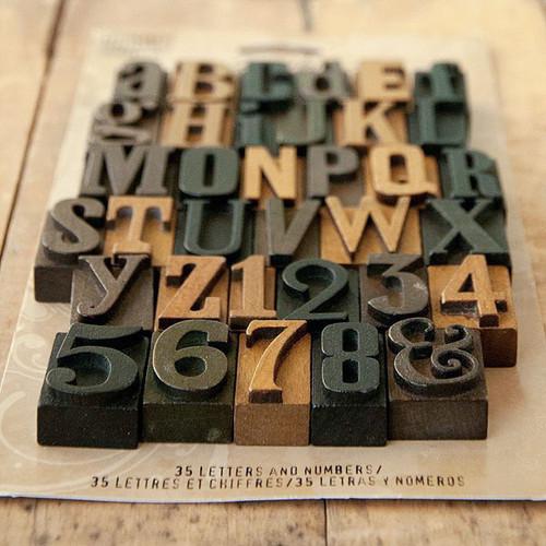 Advantus Tim Holtz Idea-ology Letterpress Blocks