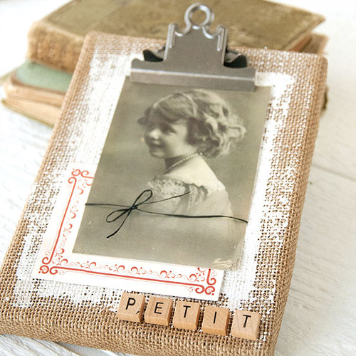 Vintage Burlap Canvas Project