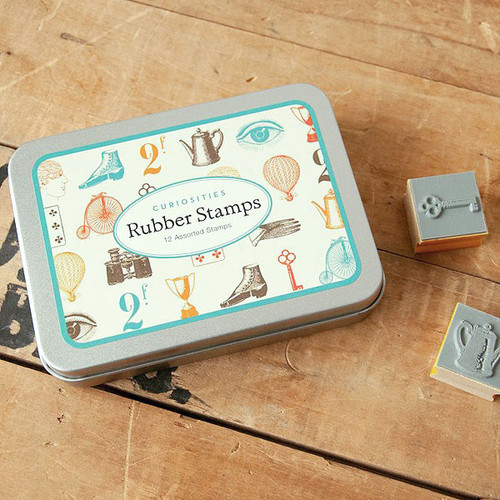 Cavallini & Co. Mini Rubber Stamp Set —Ã'Curiosities