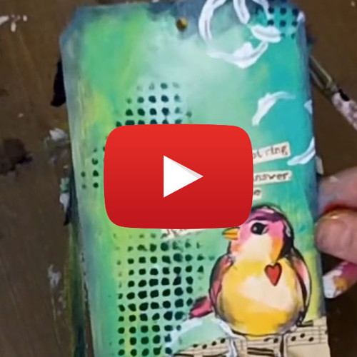 Dina Wakley Media Painted Tag!  Video by Ranger Ink