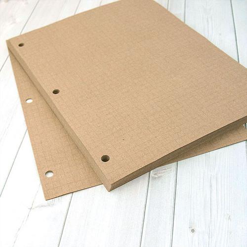 Eco Natural Quad Ruled Kraft Paper 8 x 10 1/2