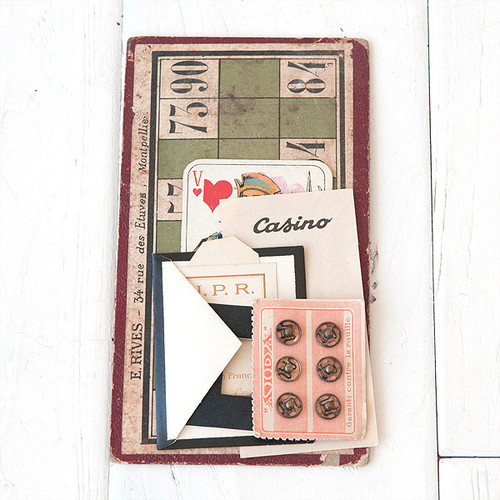 French Flea Market Bingo Ephemera Kit