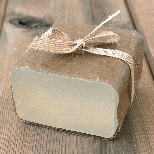 Aloe Vera Soap Base — 1 lb Wrapped Bar