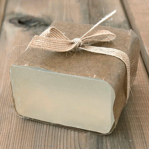Aloe Vera Soap Base — 1 lb Wrapped Bar
