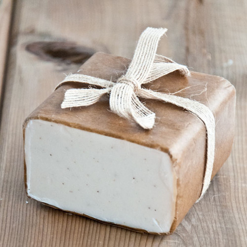 Exfoliating Nuts and Cream Soap Base — 1 lb Wrapped Bar