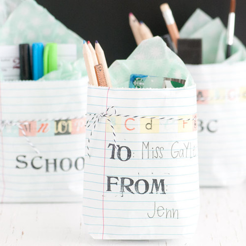 Back to School Goodie Bags + Bonus Gift Card Holder Project
