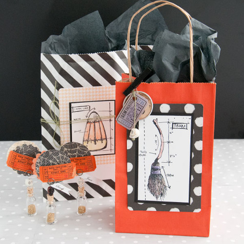 Halloween Party Favor Bags and Place Cards Project