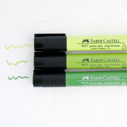 Faber-Castell Mix & Match Stamper's Big Brush Pen Set Green