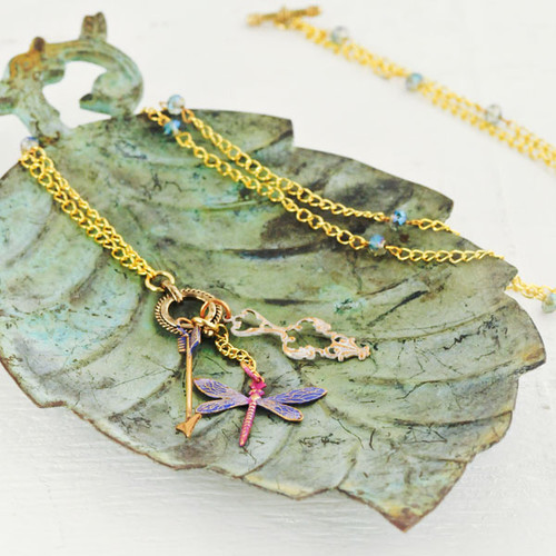 Dragonflies and Dreams Two-Way Necklace by Sarah Donawerth