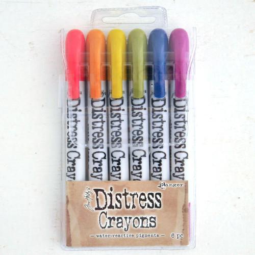 Ranger Ink Distress Crayons Set — Muted Brights