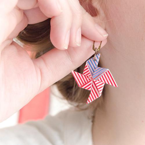 Patriotic Pinwheel Earrings Project