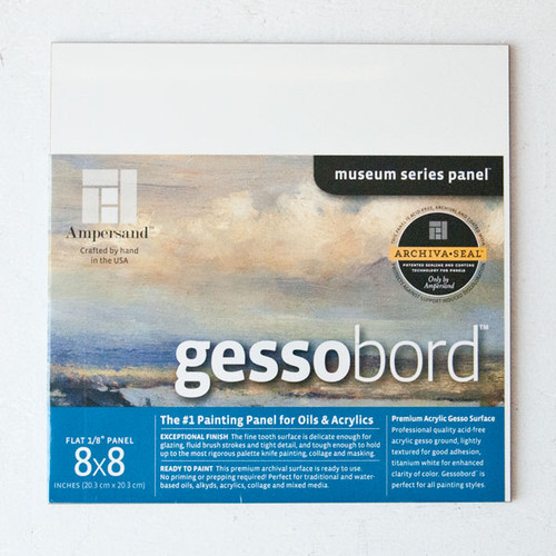 Ampersand Gesso Board 8x8 — Pack of 1
