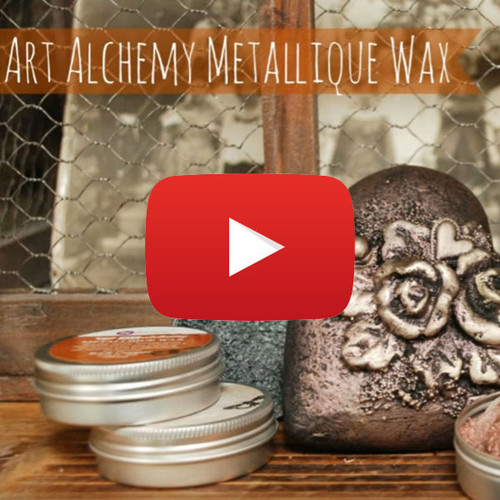 Finnabair Demonstrates Art Alchemy Metallique Waxes