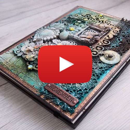 Mixed Media Journal Cover Tutorial by Maremi SmallArt