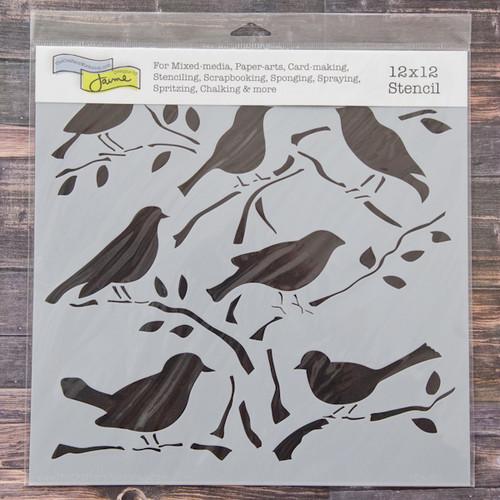 The Crafter's Workshop Birds Stencil — 12 x 12