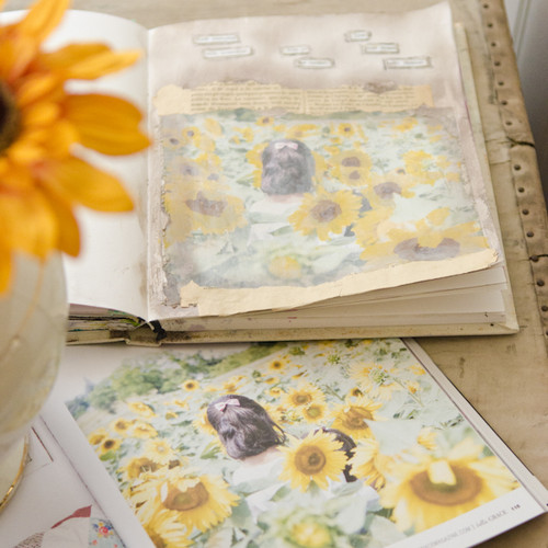 Sunflowers Art Journal Page