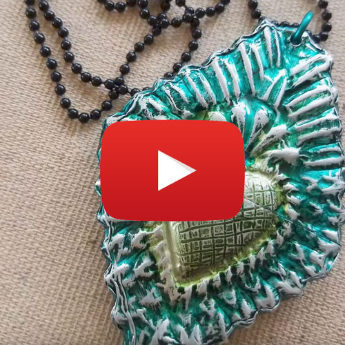 Faux Metal with Relics and Artifact Blanks Video by Cat Kerr