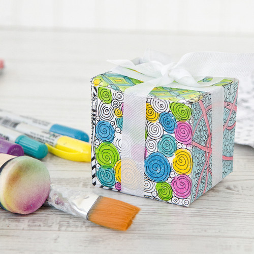 Coloring Book Gift Box Project